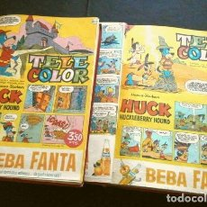 Tebeos: TELE COLOR ORIGINAL DOS TOMOS (AÑOS 60) 46 TEBEOS ENCUADERNADOS - DEL Nº 78 A 124 - BRUGUERA. Lote 264197972