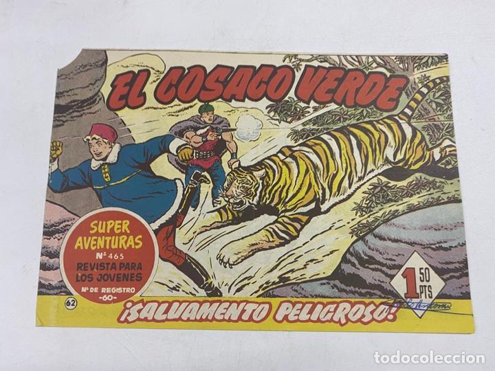 EL COSACO VERDE. Nº 62.- ¡SALVAMENTO PELIGROSO!. EDITORIAL BRUGUERA (Tebeos y Comics - Bruguera - Cosaco Verde)