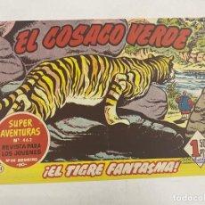 Tebeos: EL COSACO VERDE. Nº 61.- ¡EL TIGRE FANTASMA!. EDITORIAL BRUGUERA. Lote 264293932