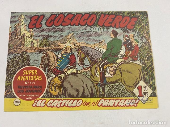 EL COSACO VERDE. Nº 104.- ¡EL CASTILLO EN EL PANTANO!. EDITORIAL BRUGUERA (Tebeos y Comics - Bruguera - Cosaco Verde)