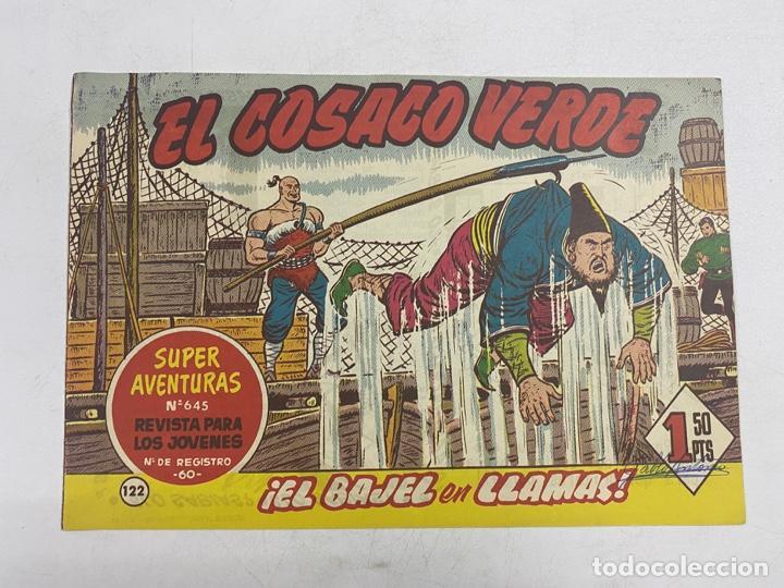 EL COSACO VERDE. Nº 122.- ¡EL BAJEL EN LLAMAS!. EDITORIAL BRUGUERA (Tebeos y Comics - Bruguera - Cosaco Verde)