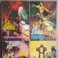 BDs: LA BIBLIA ILUSTRADA A TODO COLOR: TOMOS 1-2-3-4 (BRUGUERA, 1978). COMPLETA. BOSCH PENALVA.. Lote 265932093