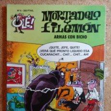 Livros de Banda Desenhada: COMIC DE OLE MORTADELO Y FILEMÓN EN ARMAS CON BICHO DEL AÑO 1993 Nº 6. Lote 266111563