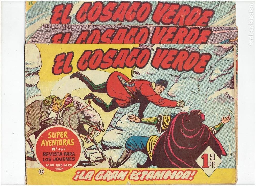 ARCHIVO * EL COSACO VERDE * ED. BRUGUERA * ORIGINALES 1960-1963 * Nº 63, 95, 143, * (Tebeos y Comics - Bruguera - Cosaco Verde)