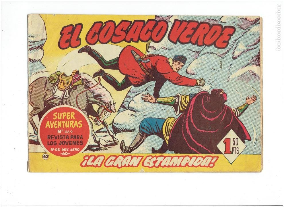 Tebeos: Archivo * EL COSACO VERDE * ED. BRUGUERA * ORIGINALES 1960-1963 * Nº 63, 95, 143, * - Foto 2 - 266440228
