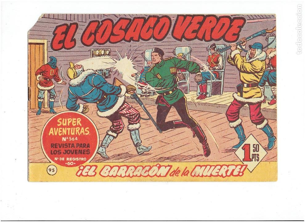Tebeos: Archivo * EL COSACO VERDE * ED. BRUGUERA * ORIGINALES 1960-1963 * Nº 63, 95, 143, * - Foto 3 - 266440228