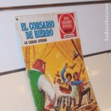 Tebeos: JOYAS LITERARIAS JUVENILES SERIE ROJA Nº 44 EL CORSARIO DE HIERRO LA CIUDAD SITIADA - BRUGUERA. Lote 266948364