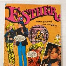 Tebeos: ESTHER #19 BRUGUERA 1982 EN BUEN ESTADO CON POSTER DE LEIF GARRET. Lote 266953824