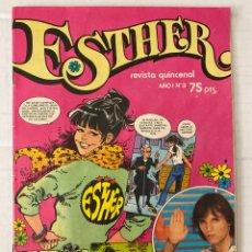 Tebeos: ESTHER #3 BRUGUERA 1982 EN BUEN ESTADO CON POSTER DE MIGUEL BOSÉ. Lote 266954104
