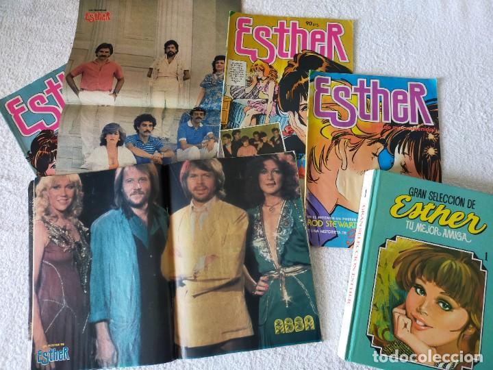 Tebeos: ESTHER, LOTE DE TEBEOS, CON POSTER ENTRE ELLOS MARADONA - EDITORIAL BRUGUERA (AÑOS 80) - Foto 3 - 267040544