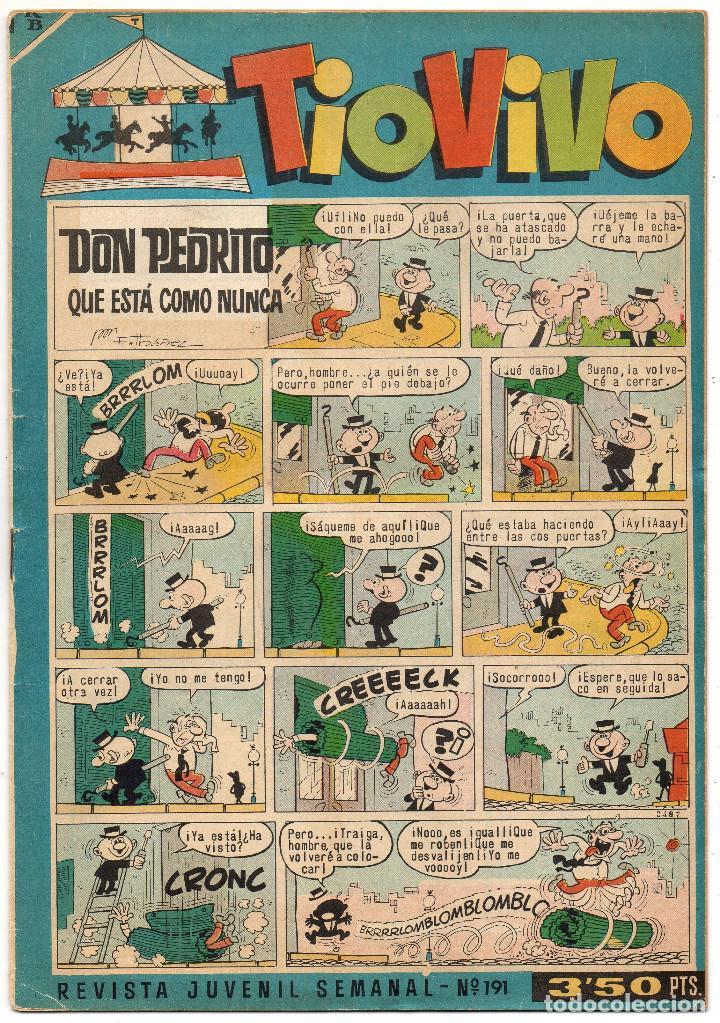 Tebeos: TIO VIVO nº 190, 191, 242, 301, 315, 316, 320, 325, 327 y 335 (Bruguera 1964/67) 10 tebeos. - Foto 4 - 243372840