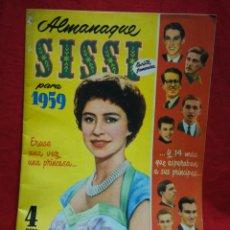 Tebeos: SISSI REVISTA FEMENINA ALMANAQUE 1959- ERASE UNA VEZ UNA PRINCESA... (PORTADA), 4 PTAS.. Lote 267579309