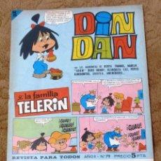 Tebeos: DIN DAN Nº 79 (BRUGUERA 1966). Lote 268024284