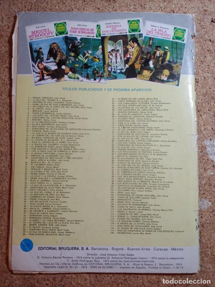 Tebeos: COMIC DE JOYAS LITERARIAS JUVENILES CORAZON DE ORO DEL AÑO 1974 Nº 112 - Foto 2 - 268571674