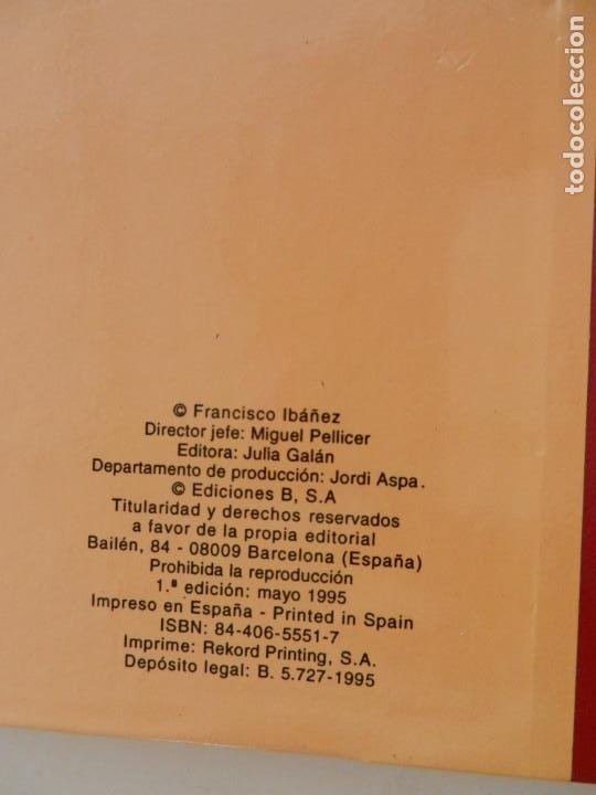 Tebeos: SUPER HUMOR MORTADELO Nº 21 - 1ª EDICION AÑO 1995 - ED. JULIA GALÁN - EDICIONES B. - Foto 5 - 269160293
