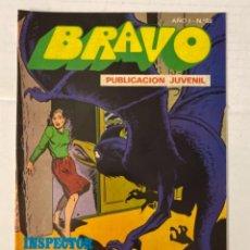 Tebeos: BRAVO 58 / INSPECTOR DAN 29 - BRUGUERA - EN BUEN ESTADO. Lote 269321223