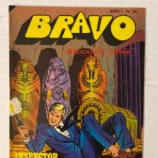 Tebeos: BRAVO 36 / INSPECTOR DAN 18 - BRUGUERA - EN BUEN ESTADO. Lote 269321698