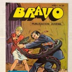 Tebeos: BRAVO 30 / INSPECTOR DAN 15 - BRUGUERA - EN BUEN ESTADO. Lote 269321868
