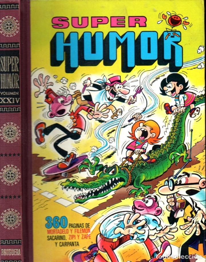 SUPER HUMOR VOLUMEN XXIV 1978 PRIMERA EDICIÓN - 360 PÁGINAS DE MORTADELO Y FILEMÓN Y OTROS (Tebeos y Comics - Bruguera - Super Humor)