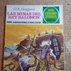 Tebeos: COMIC DE JOYAS LITERARIAS JUVENILES LAS MINAS DEL REY SALOMÓN DEL AÑO 1976 Nº 156. Lote 269397248