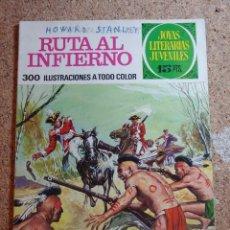 Tebeos: COMIC DE JOYAS LITERARIAS JUVENILES RUTA AL INFIERNO DEL AÑO 1971 Nº 37. Lote 269402108
