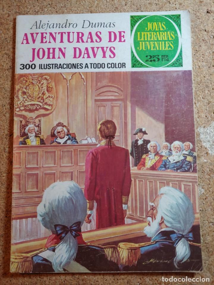 COMIC DE JOYAS LITERARIAS JUVENILES AVENTURAS DE JOHN DAVYS DEL AÑO 1976 Nº 77 (Tebeos y Comics - Bruguera - Joyas Literarias)