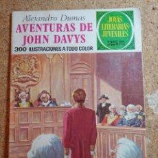 Tebeos: COMIC DE JOYAS LITERARIAS JUVENILES AVENTURAS DE JOHN DAVYS DEL AÑO 1976 Nº 77. Lote 269403028