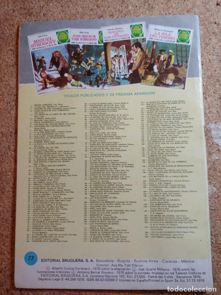 Tebeos: COMIC DE JOYAS LITERARIAS JUVENILES AVENTURAS DE JOHN DAVYS DEL AÑO 1976 Nº 77 - Foto 2 - 269403028