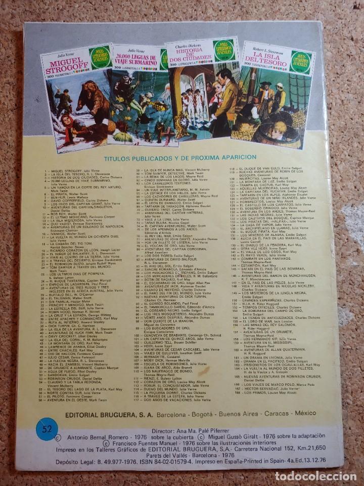 Tebeos: COMIC DE JOYAS LITERARIAS JUVENILES SANDOKAN DEL AÑO 1976 Nº 52 - Foto 2 - 269403723