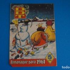 Tebeos: COMIC DE EL DDT ALMANAQUE AÑO 1961 DE BRUGUERA LOTE 14 D. Lote 270408763