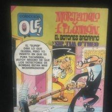 Tebeos: COMIC - MORTADELO Y FILEMON - EL BOTONES SACARINO - SIR TIM O'THEO - BRUGUERA - 1985. Lote 270562498