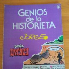 Tebeos: GENIOS DE LA HISTORIETA Nº 4 - DOÑA URRACA - JORGE - BRUGUERA (C). Lote 270879338