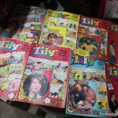 Tebeos: DE LA EDITORIAL BRUGUERA LOTE 15 REVISTA JUVENIL FEMENINA CÓMIC, TEBEOS DE LILY .AÑOS 70-80. Lote 272178063