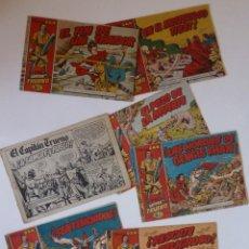 Livros de Banda Desenhada: CAPITAN TRUENO LOTE DE 7 TEBEOS Nº 4 -11 -18 -19 -20 - 26 - 1 ( SIN LA PORTADA ), BRUGUERA, ORIGINAL. Lote 272467988