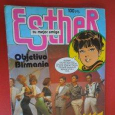 Tebeos: ESTHER Nº 90 - BRUGUERA 1984- POSTER OBJETIVO BIRMANIA. Lote 272729073