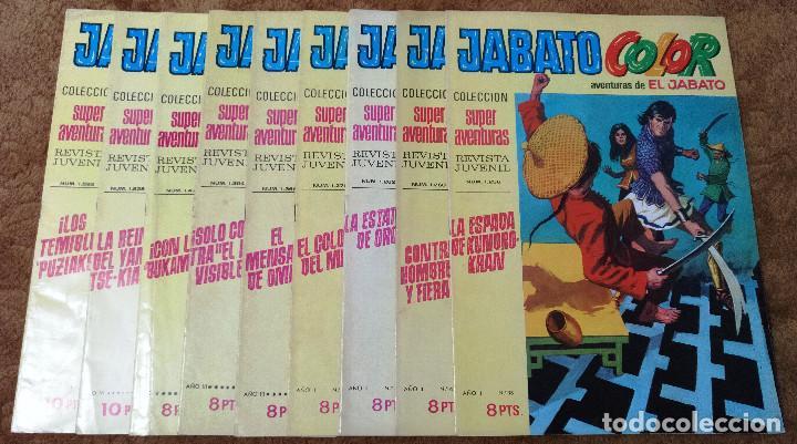 JABATO COLOR Nº 38, 40, 41, 49, 93, 107, 149, 174 Y 206 (BRUGUERA 1ªEPOCA 1970/73) 9 TEBEOS. (Tebeos y Comics - Bruguera - Jabato)