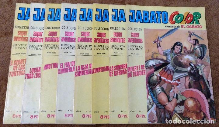 JABATO COLOR Nº 11, 12, 13, 14, 16, 18, 25 Y 35 (BRUGUERA 1ª EPOCA 1970) 8 TEBEOS. (Tebeos y Comics - Bruguera - Jabato)