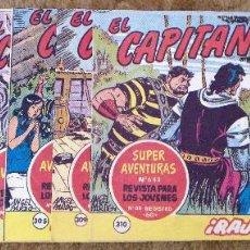 Tebeos: CAPITAN TRUENO Nº 265, 286, 298, 301, 305, 309 Y 310 (BRUGUERA 1961/62) 7 TEBEOS.. Lote 243278195