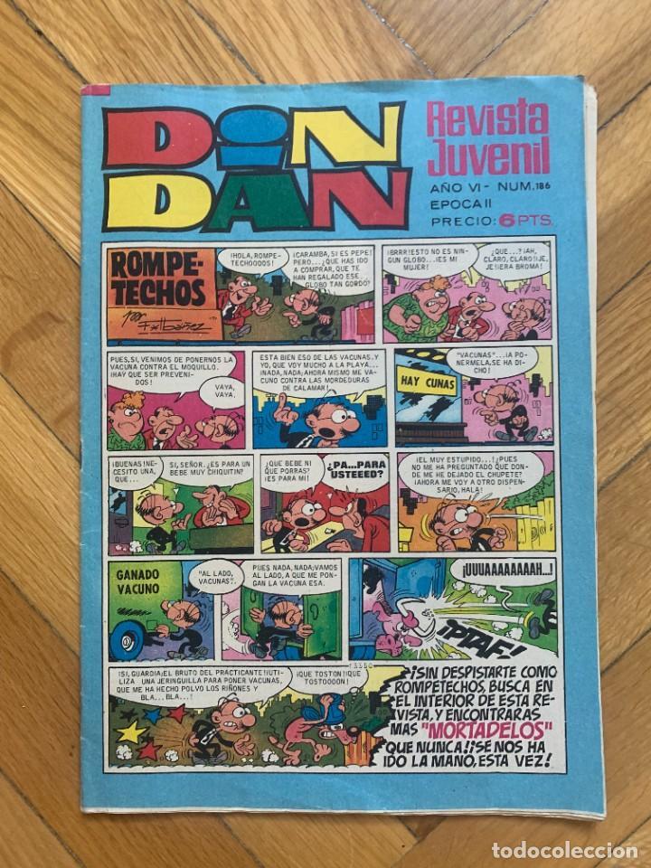 DIN DAN Nº 186 (Tebeos y Comics - Bruguera - Din Dan)