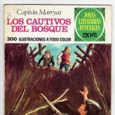 Tebeos: JOYAS LITERARIAS JUVENILES Nº 132 - LOS CAUTIVOS DEL BOSQUE - BRUGUERA 1975 - 1ª EDICIÓN. Lote 274202093