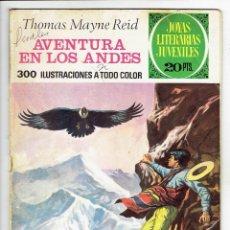 Tebeos: JOYAS LITERARIAS JUVENILES Nº 130 - AVENTURA EN LOS ANDES - BRUGUERA 1975 - 1ª EDICIÓN. Lote 274202403