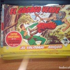Tebeos: EL COSACO VERDE SUPER AVENTURAS Nº 21 AÑO 1960 ORIGINAL PRECIO RECORTADO VER FOTO. Lote 274237898