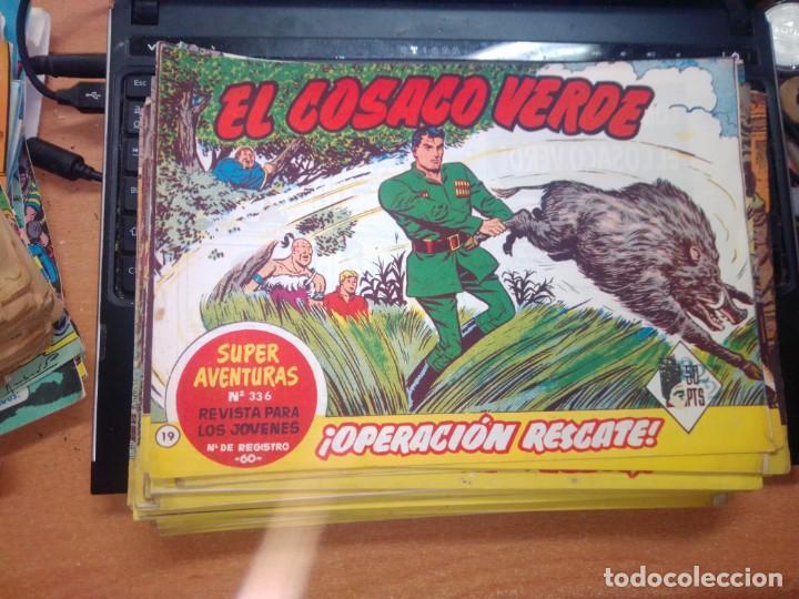 EL COSACO VERDE SUPER AVENTURAS Nº 19 AÑO 1960 ORIGINAL PRECIO RECORTADO VER FOTO (Tebeos y Comics - Bruguera - Cosaco Verde)