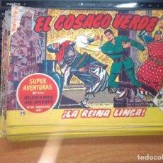 Tebeos: EL COSACO VERDE SUPER AVENTURAS Nº 38 AÑO 1960 ORIGINAL PRECIO RECORTADO VER FOTO. Lote 274238898