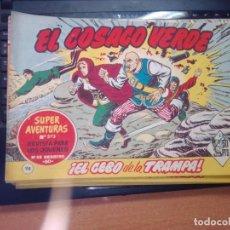 Tebeos: EL COSACO VERDE SUPER AVENTURAS Nº 98 AÑO 1960 ORIGINAL PRECIO RECORTADO VER FOTO. Lote 274241318