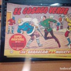 Tebeos: EL COSACO VERDE SUPER AVENTURAS Nº 95 AÑO 1960 ORIGINAL PRECIO RECORTADO VER FOTO. Lote 274241528