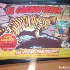 Tebeos: EL COSACO VERDE SUPER AVENTURAS Nº 61 AÑO 1960 ORIGINAL PRECIO RECORTADO VER FOTO. Lote 274241958