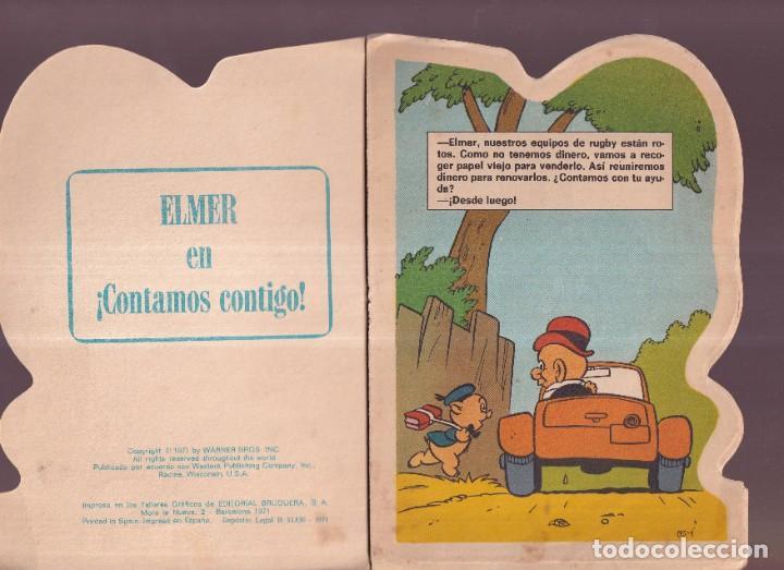 Tebeos: ELMER EN CONTAMOS CONTIGO - TROQUELADOS TELE COLOR BRUGUERA 1971 - Foto 2 - 274366318