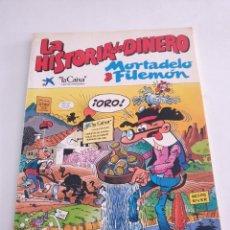 Tebeos: MORTADELO Y FILEMON LA HISTORIA DEL DINERO ESTADO BUENO MAS ARTICULOS NEGOCIABLE. Lote 276007498