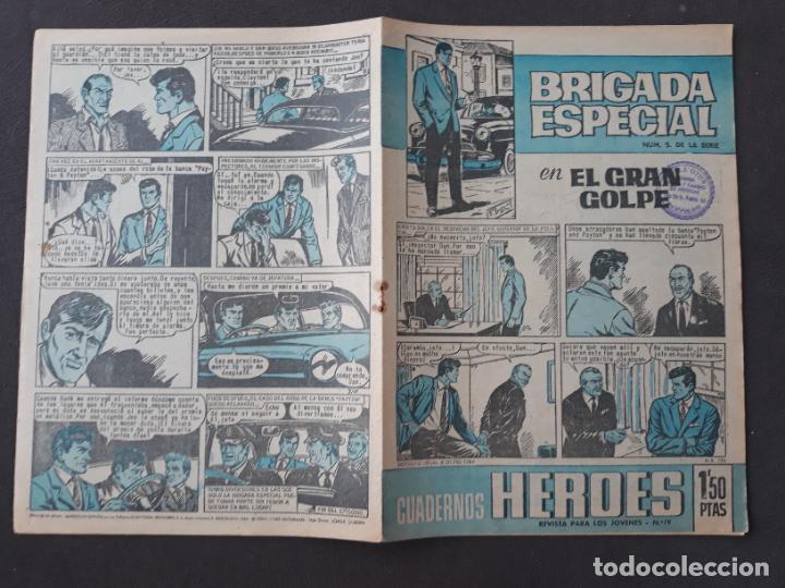 CUADERNOS HÉROES BRUGUERA Nº 19 BRIGADA ESPECIAL Nº 5 (Tebeos y Comics - Bruguera - Otros)